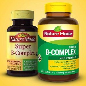 $6.88(原价$16.99) 包邮Nature Made 复合维生素B+叶酸 250粒