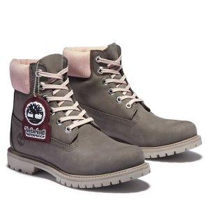 Timberland高级6 Inch雪地靴 粉灰色