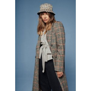 Nasty GalWe're Out Oversized Check Coat