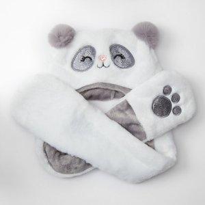 claire's熊猫连帽围巾