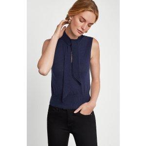 BCBGMAXAZRIASleeveless Knit Cutout Top