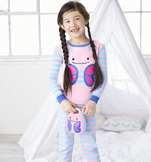 $18.76(原价$35)Skip Hop Zoo 动物园系列蝴蝶款睡衣两件套 (3T)
