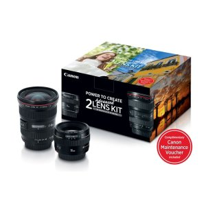 Canon EF 17-40mm f/4L + EF 50mm f/1.4 Lens Bundle