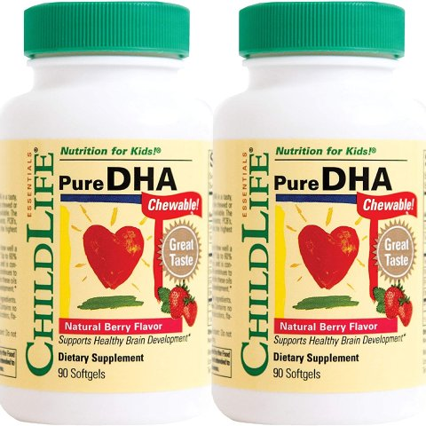 $13.99Child Life Pure DHA Dietary Supplement, 90 Soft Gel Capsules (Pack of 2)