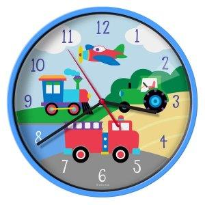 wildkin卡通车图案 挂墙钟表