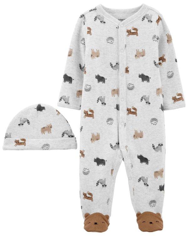 婴儿连帽按扣式包臀衫