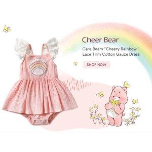 低至3.5折+额外8.5折独家:PatPat Care Bear小童服饰热卖 萌萌小熊超吸睛