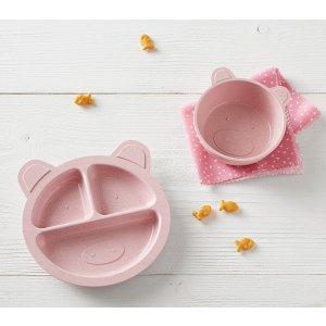 Pottery Barn KidsPiglet Shaped Astrik Feeding Set