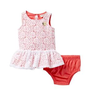 a4e72bce9c Juicy CoutureFloral Crochet Lace Dress & Diaper Cover Set (Baby Girls ...