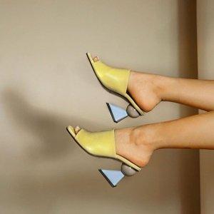 超低门槛5折 黑丝绒穆勒鞋补货YUUL YIE 韩国小众女鞋 潮人必收单品
