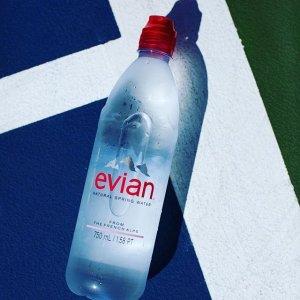 $13.42 纯净自然 安全健康依云天然矿泉水 运动瓶口 750ml 12瓶