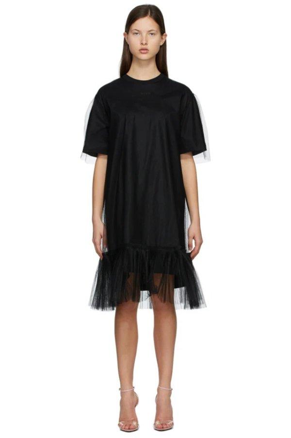 薄纱叠层连衣裙