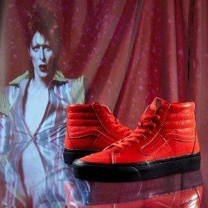 玩转摇滚风上新:Coggles官网 Vans X David Bowie 热卖