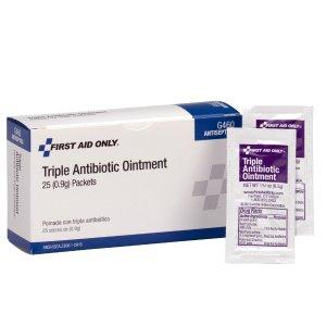 $4.17(原价$8.7)+包邮First Aid Only 抗生素软膏 25小袋装,随身携带方便