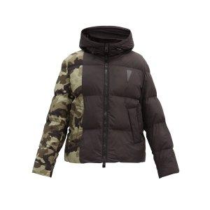 Neil BarrettCamouflage-panelled棉服夹克