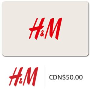 $40(原价$50) Email发送牛年大吉:H&M、波士顿Pizza礼品卡 特卖8折 实体店线上均可使用
