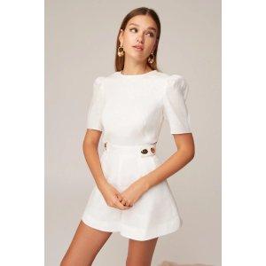 KeepsakeCRANES SHORT 白色连衣裙