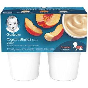 Gerber婴儿桃味酸奶4盒*6包