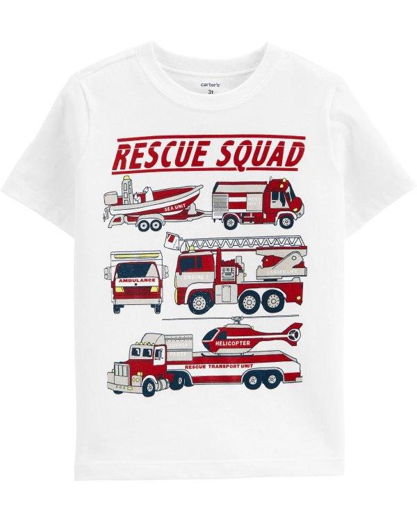 婴儿消防车T恤
