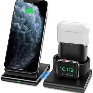 Seneo 3合1无线充电器 iPhone, AirPods, Watch 一次搞定