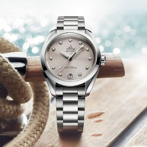 Extra $50 OffDealmoon Exclusive: OMEGA Seamaster Aqua Terra Diamond Dial Ladies Watch