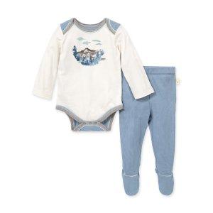Burt's Bees Baby男婴包臀衫套装