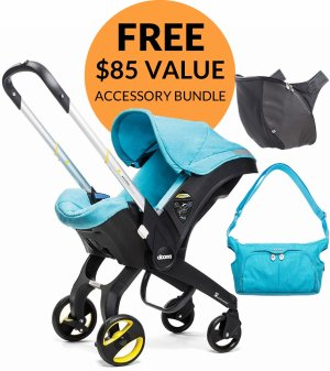 Free $85 Value ItemsDoona Infant Car Seat + Accessory Bundle - Sky