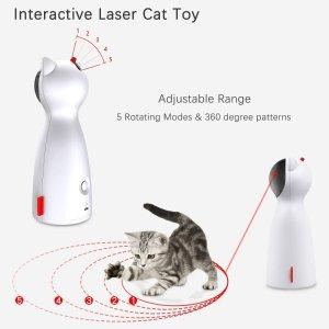 $19.78(原价$29.32)限今天:Petrip 自动逗猫激光器  5种旋转模式 猫主子的陪玩伙伴