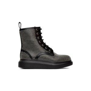 Alexander McQueenBlack Studded靴子