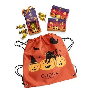 GodivaFree trick or treat backback with order $50+Spooky Treats with Halloween Backpack | GODIVA