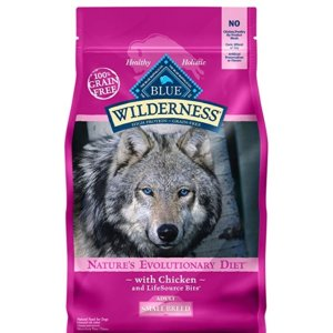 $8.11Blue Buffalo Wilderness High Protein Grain Free Adult Small Breed Dry Dog Food