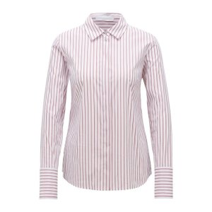 BOSS - Regular-fit blouse with vertical stripe pattern