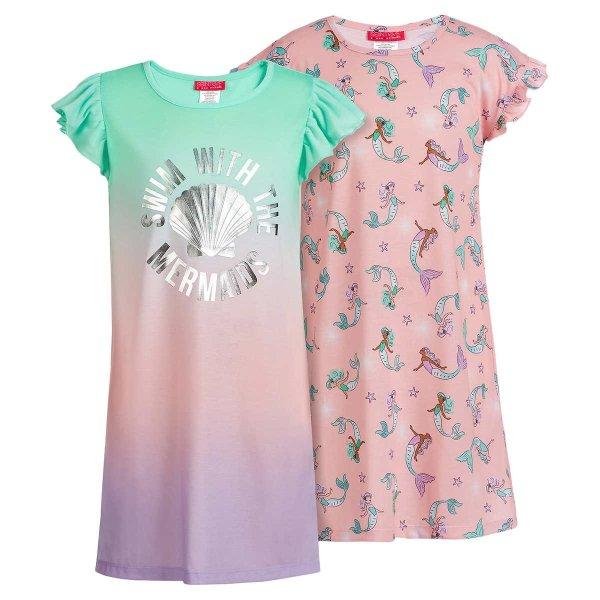 儿童美人鱼睡裙2条装