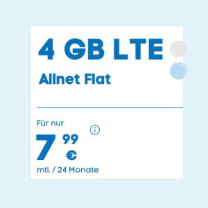 月租€7.99 带号入网返€10性价比超高➕免接通费 包月电话/短信+4GB流量+欧盟漫游