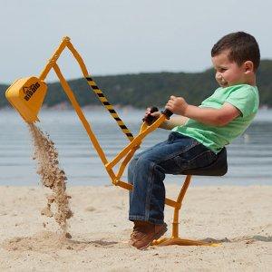 $39.79The Big Dig Sandbox Digger Excavator Crane with 360° Rotation with Base