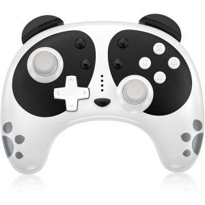 $17.99 包邮 支持震动+NFCSTOGA Nintendo Switch 超萌熊猫头 无线手柄