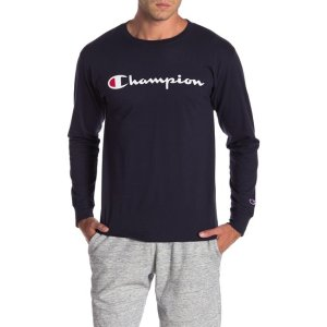 ChampionLogo Print Long Sleeve T-Shirt