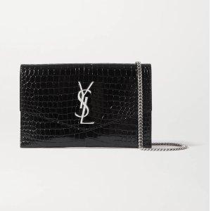 Saint LaurentUptown croc-effect leather shoulder bag