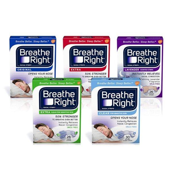 Breathe Right Nasal Strips 呼吸顺畅鼻贴 防止打呼
