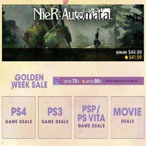 As Low As $1.59PSN Golden Week Sale