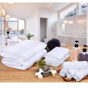 $26.99 (原价$74.5)Utopia Towels 高级纯棉浴巾毛巾组合8件套