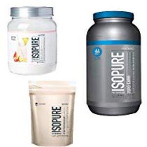 低至七折精选 Isopure 蛋白粉产品一日特卖