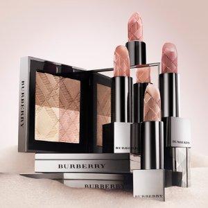 全线8折+直邮中国Burberry 口红、唇釉、蕾丝高光、四色眼影、粉饼、粉底液