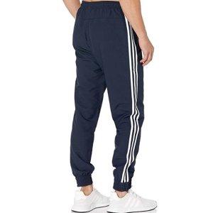 $19.49(原价$45)adidas 经典三条杠男子运动长裤 黑色、蓝色