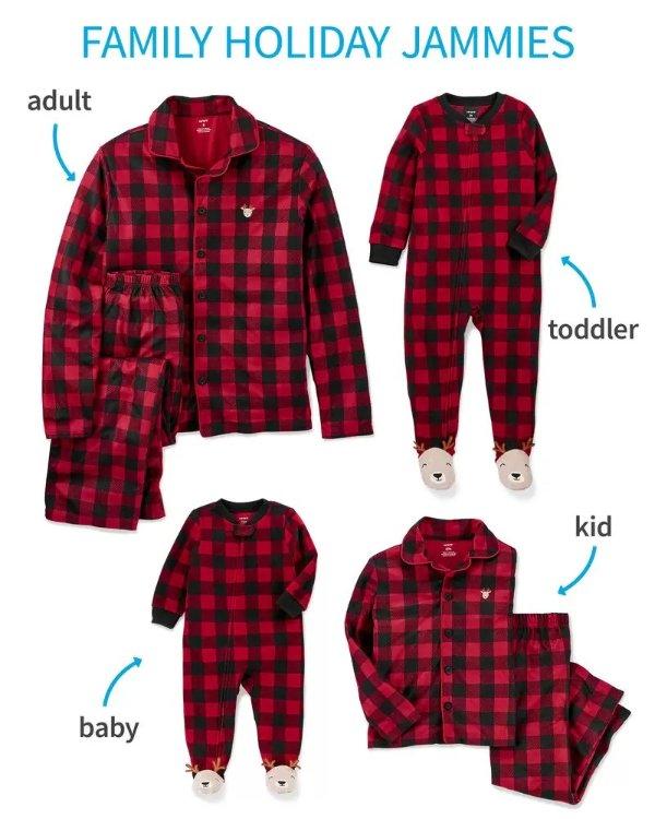 全家亲子睡衣套装 以婴儿为例
