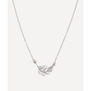 Alex Monroe银色羽毛项链