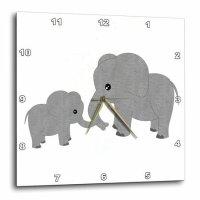 3dRose 小象挂钟
