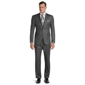 Signature Collection Traditional Fit Stripe Suit CLEARANCE