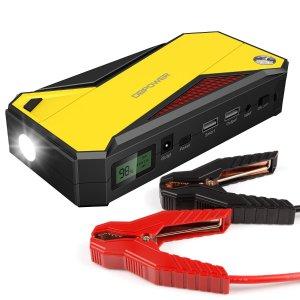 $55.99DBPOWER 600A Peak 18000mAh Portable Car Jump Starter