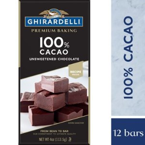 Unsweetened Chocolate 100% Cacao Baking Bar (Case of 12)
